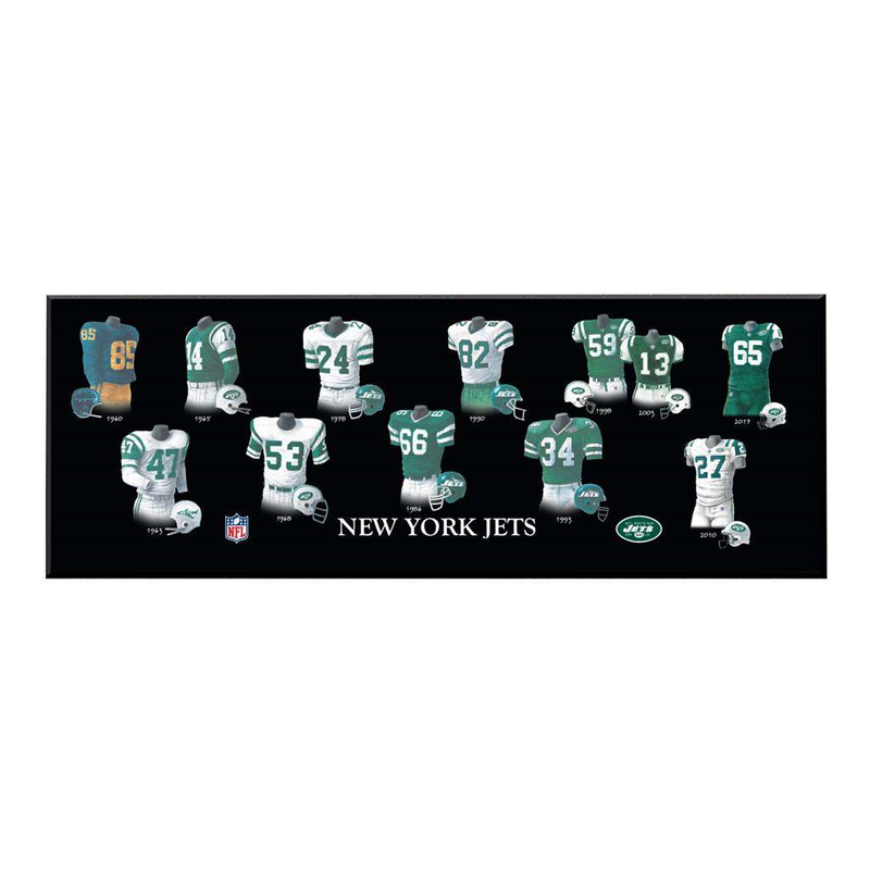 New York Jets Legacy Uniform Plaque
