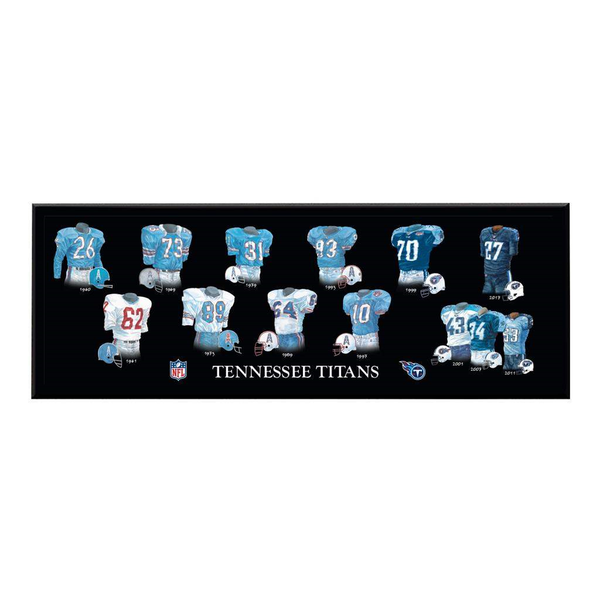 Tennessee Titans Legacy Uniform Plaque