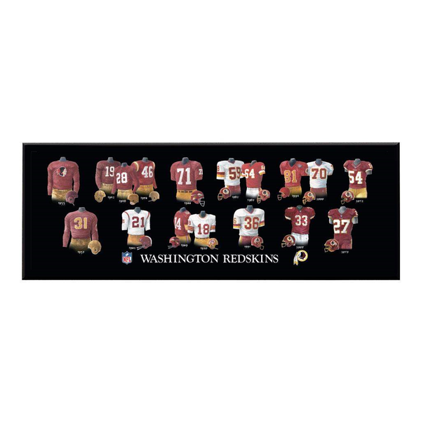 Washington Football Legacy Uniform Plaque