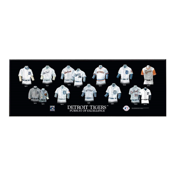 Detroit Tigers Legacy Uniform Plaque