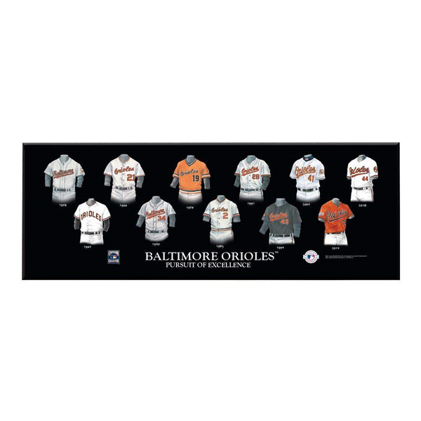Baltimore Orioles Legacy Uniform Plaque