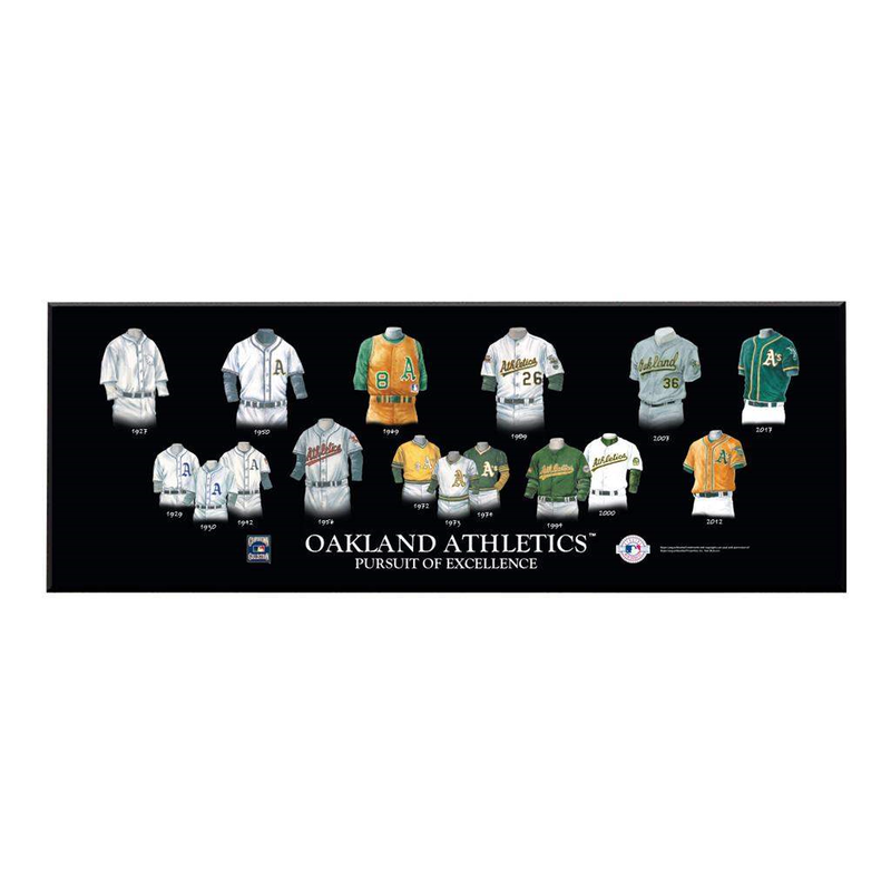 Oakland Athletics Legacy Uniform Plaque