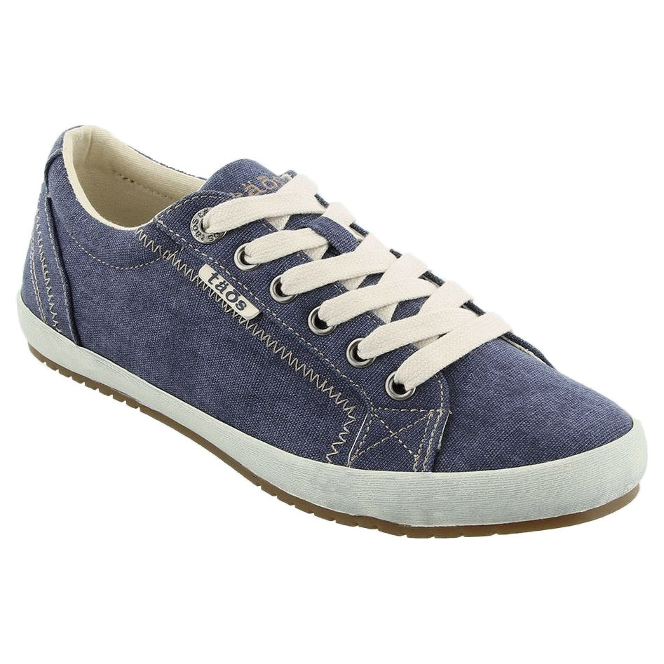 Taos Star Blue Washed Canvas Sneakers