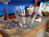 NautiBoy stemless martini glass
