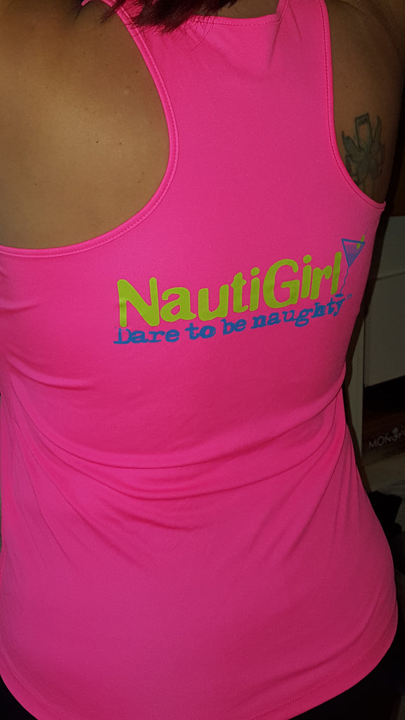 NEW! Racer Back tank with Nautigirl Martini logo