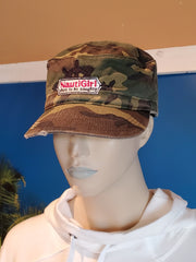 Military Distressed Camo Print Hat