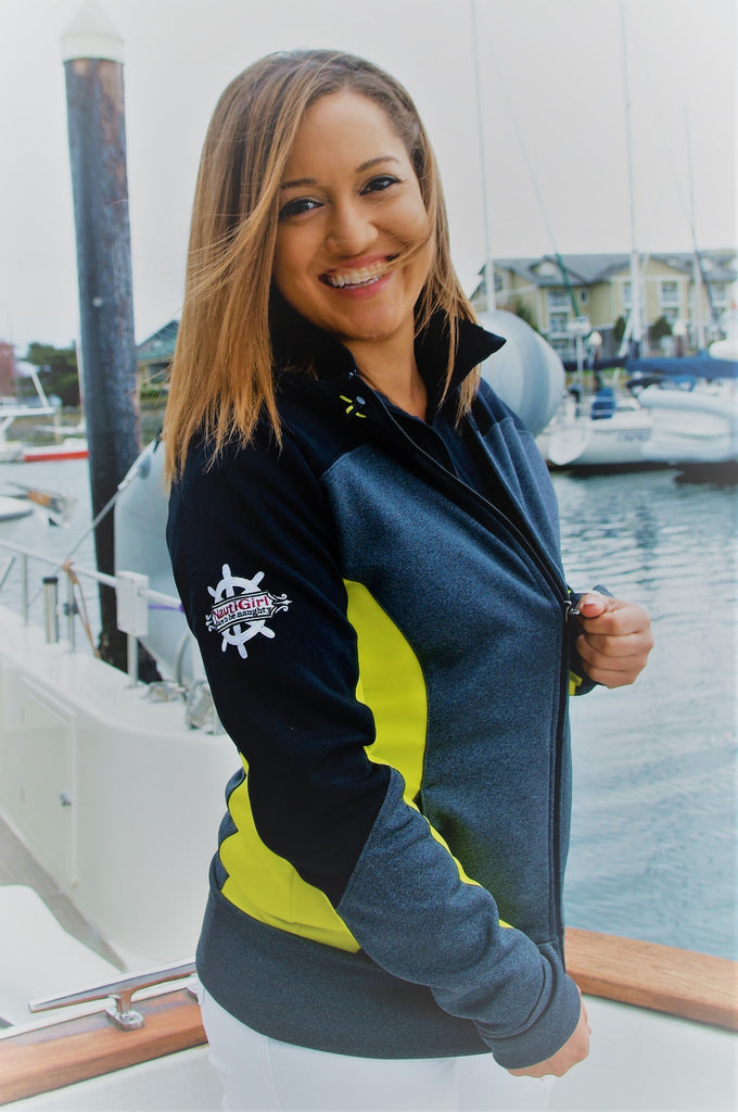 NEW! NautiGirl Ladies Tech Fleece Hooded Full Zip Jacket