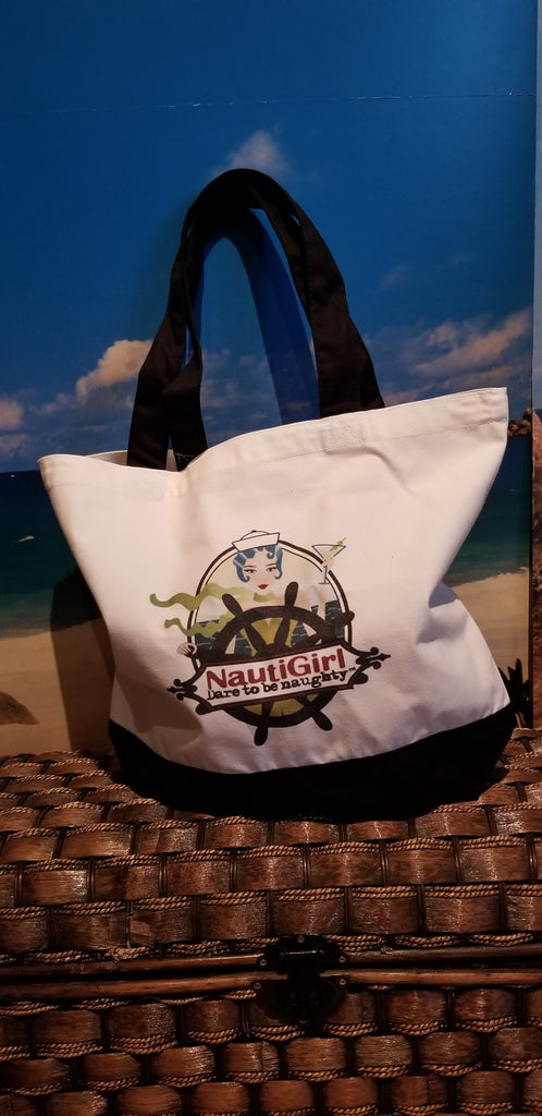New! NautiGirl Canvas Tote Bag