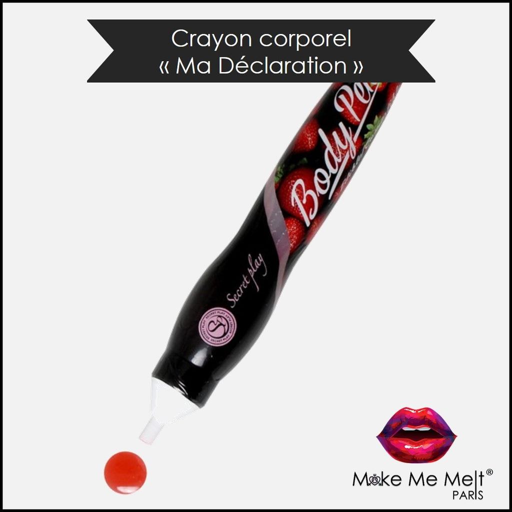 cosmétique-crayon-corporel-fraise-secret-play-body-pen-produit-vue-face-make-me-melt-paris