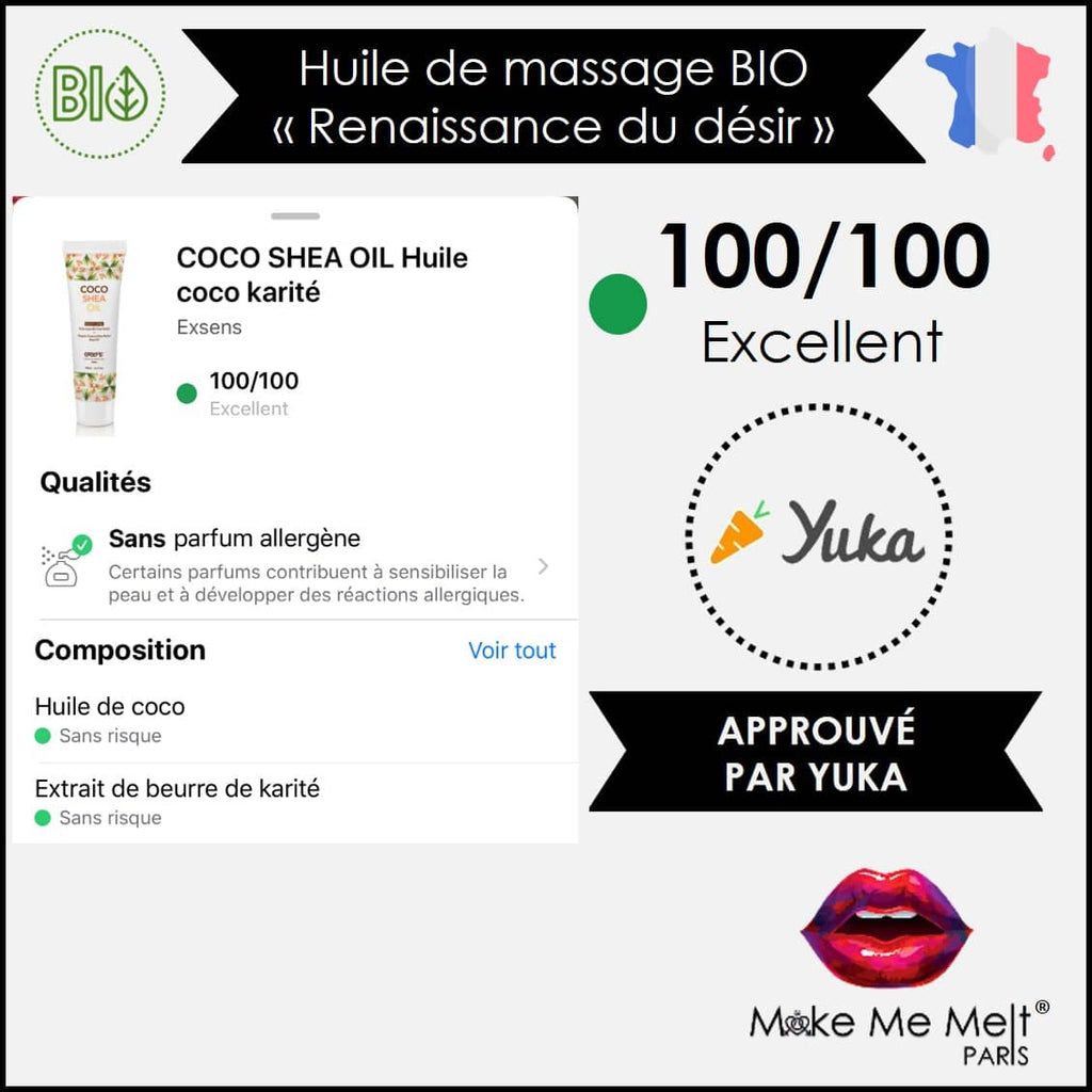 huile-massage-bio-coco-karité-coco shea oil-exsens-note-Yuka-face-make-me-melt-paris