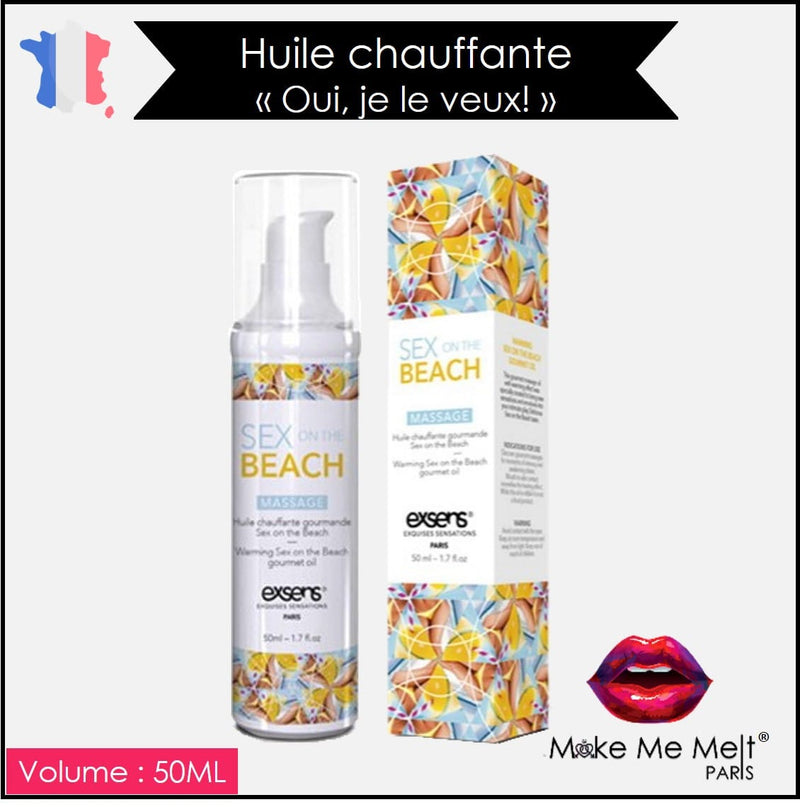 huile-massage-chauffante-sex on the beach-exsens-produit-vue-ambiance-make-me-melt-paris