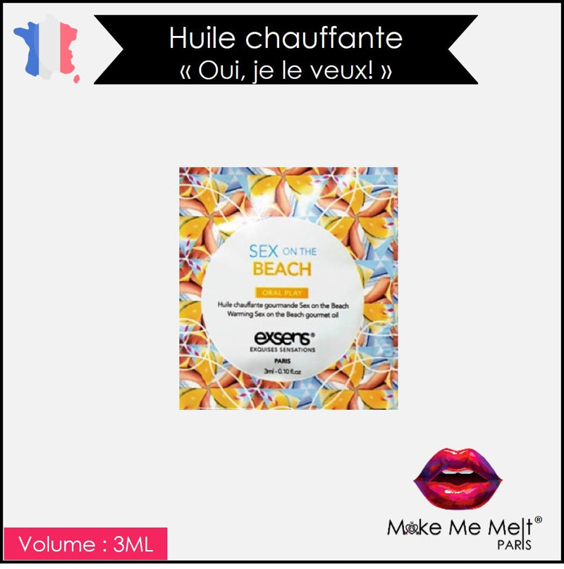 huile-massage-chauffante-sex on the beach-exsens-produit-vue-dosette-make-me-melt-paris