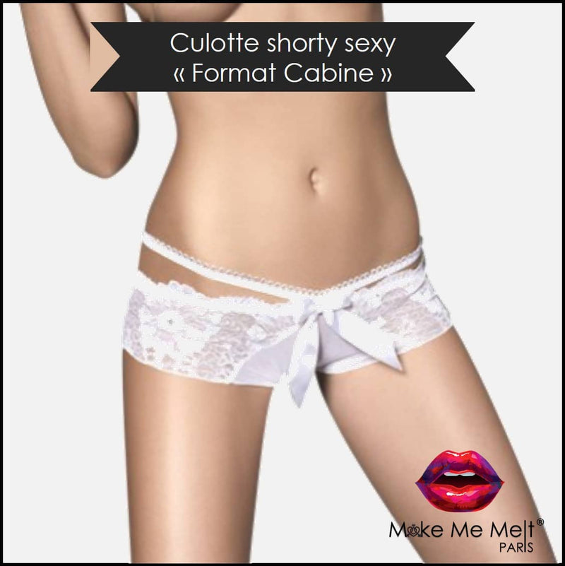 lingerie-sexy-shorty-blanc-touch me tanga-produit-vue-face-make-me-melt-paris