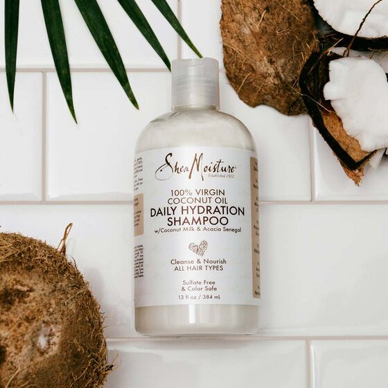 Shea Moisture Virgin Coconut Oil Daily Hydration Shampoo 13oz