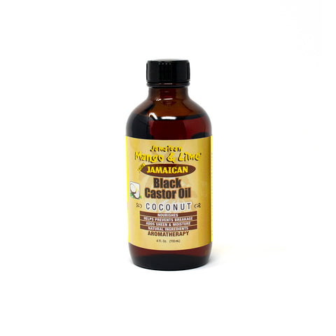 Jamaican Mango & Lime Black Caster Oil - Coconut 4oz