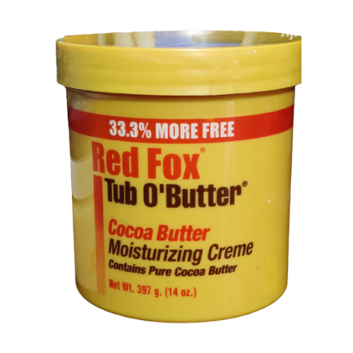 Red Fox Tub O'Butter Cocoa Butter Moisturising Creme 14oz