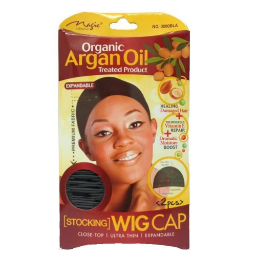 Magic Collection Stocking Wig Cap (2pcs) - Argan Oil Treated