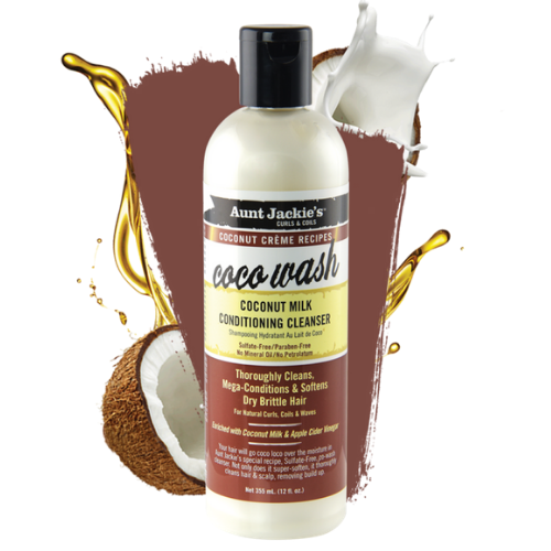 Aunt Jackie's Coco Wash – Coconut Milk Conditioning Cleanser 355ml