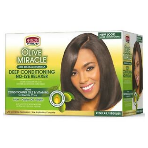 African Pride Olive Miracle Deep Conditioning No-Lye Relaxer