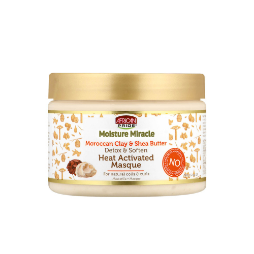 African Pride Moroccan Clay & Shea Butter Heat Activated Masque 12oz