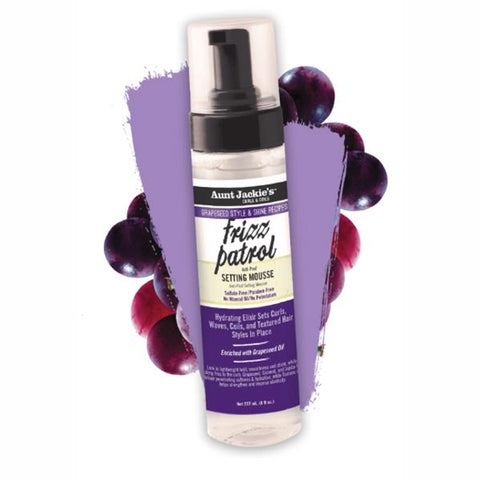 Aunt Jackie's Frizz Patrol - Anti-Poof Setting Mousse 8.5oz