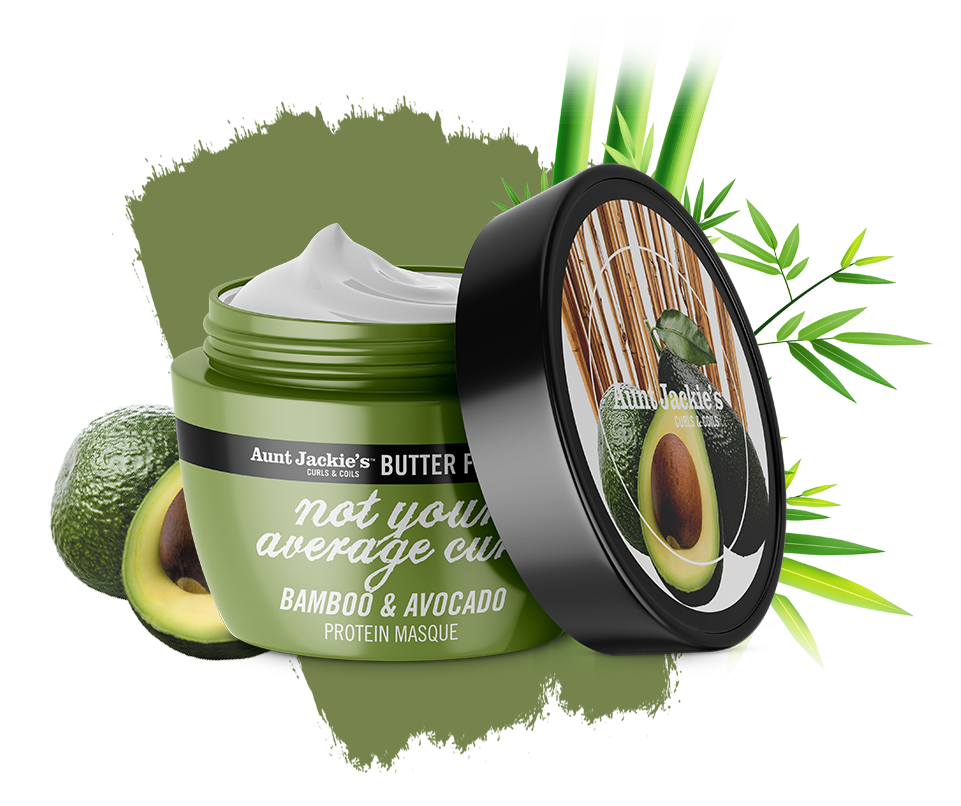 Aunt Jackie's Not Your Average Curl – Bamboo & Avocado Protein Masque 8oz
