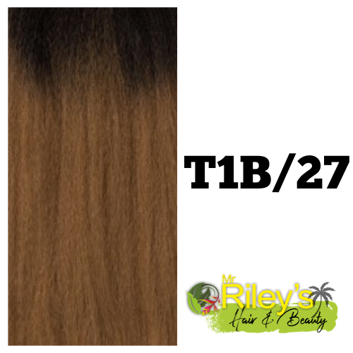 "French Wave pony tail 30"" brown blonde ombre colour t1b/27"