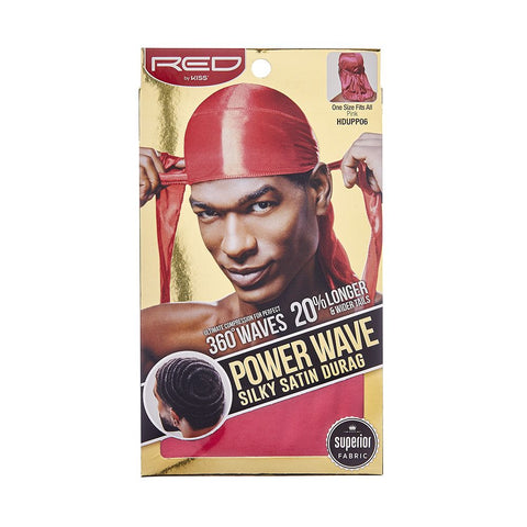 Power Wave Silky Satin Durag - Pink
