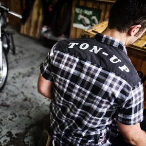 Ton Up Clothing Mens Short Sleeve Black/White Check Shirt
