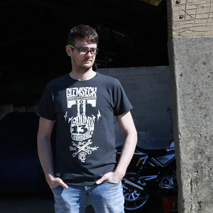 Ton Up Clothing 'Glemseck Pistonhead' Mens Black T-Shirt