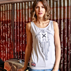Ton Up Clothing 'Glemseck Cafe 101' Ladies Grey Vest