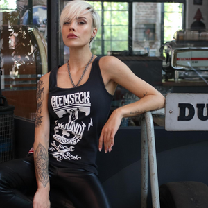 Ton Up Clothing 'Glemseck Pistonhead' Ladies Black Vest