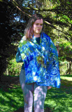 Load image into Gallery viewer, Silk Scarf Blue Tit Celtic