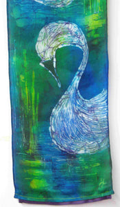 Silk Wall Hanging The Green Children of Lir