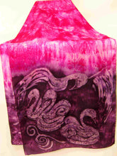 Load image into Gallery viewer, Large Silk Shawl The Magenta Swans