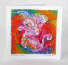 Load image into Gallery viewer, Hand Made Card The Children of Lir Orange