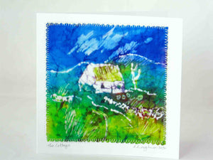 "Hand made Card "" The Blue Green Cottage """
