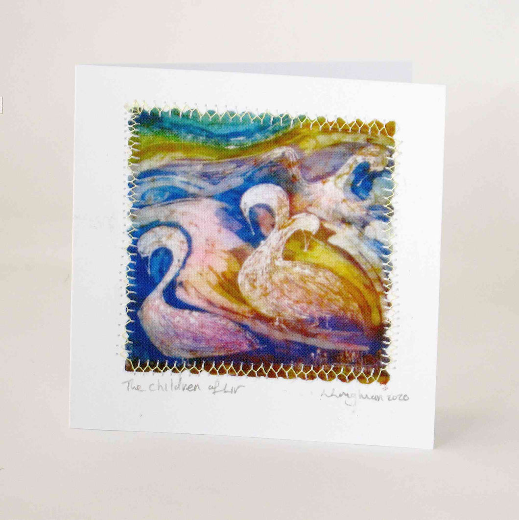 Hand Made Card The Children of Lir