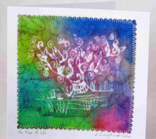 Load image into Gallery viewer, Hand Made Card The Tree of Life Pastel Rainbow