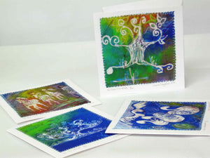 Hand Made Card The Tree of Life Spring