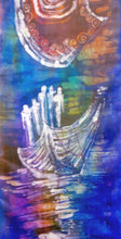 Load image into Gallery viewer, Silk Wall Hanging The Violet Voyage