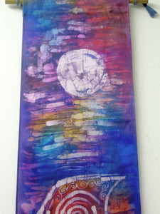 Silk Wall Hanging The Violet Voyage