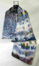 Load image into Gallery viewer, Silk Satin Scarf Celtic Long Tail Tit
