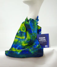 Load image into Gallery viewer, Silk Satin Neck Scarf Blue Tit Celtic