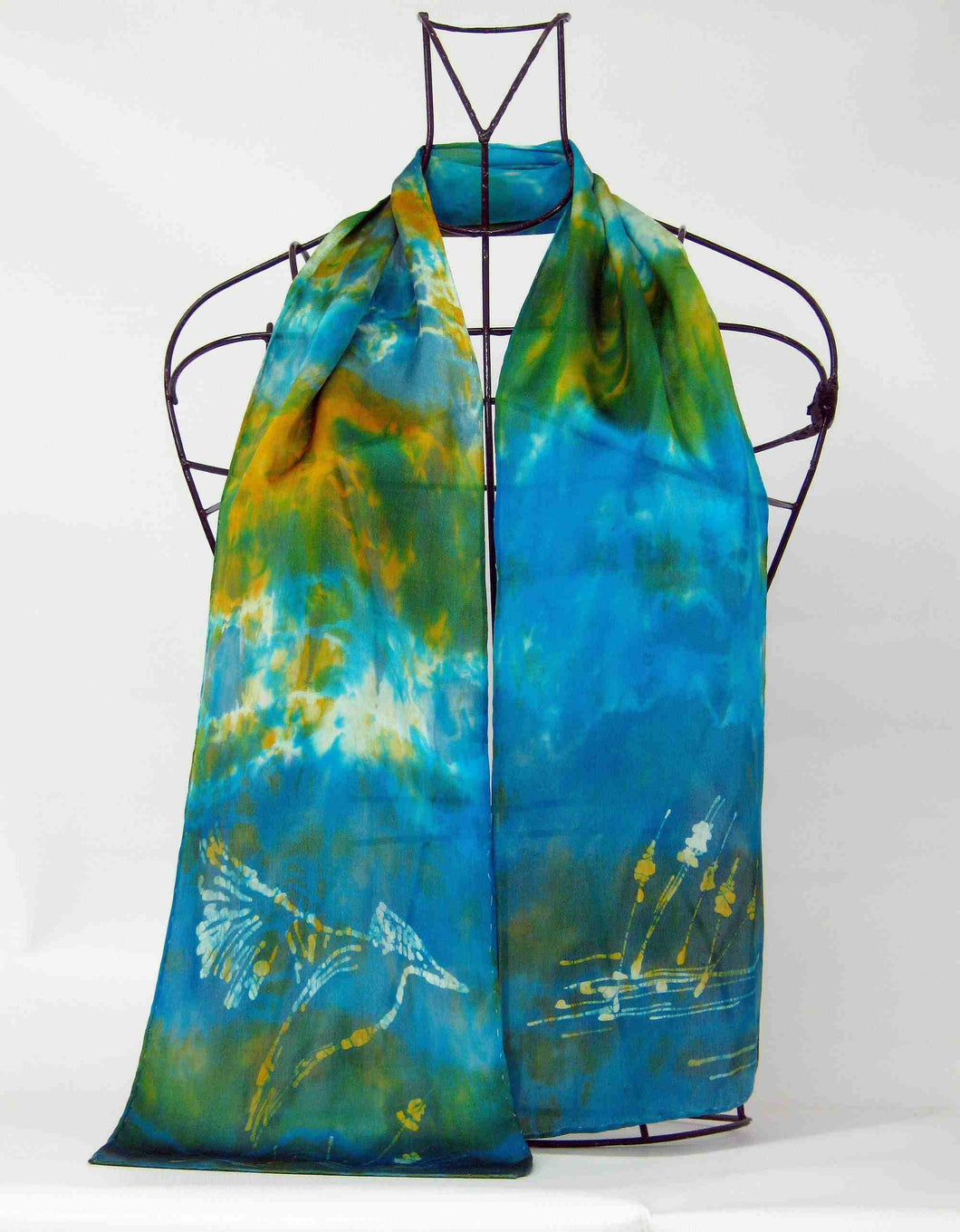 Silk Satin Neck Scarf The King Fisher