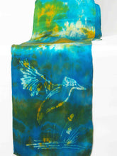 Load image into Gallery viewer, Silk Satin Neck Scarf The King Fisher