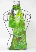 Load image into Gallery viewer, Silk Satin Neck Scarf The Green Finch