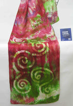 Load image into Gallery viewer, Silk Satin Scarf Celtic Red Apple