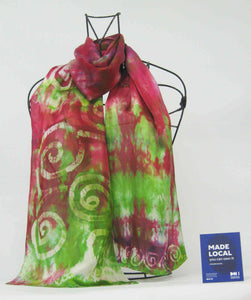 Silk Satin Scarf Celtic Red Apple