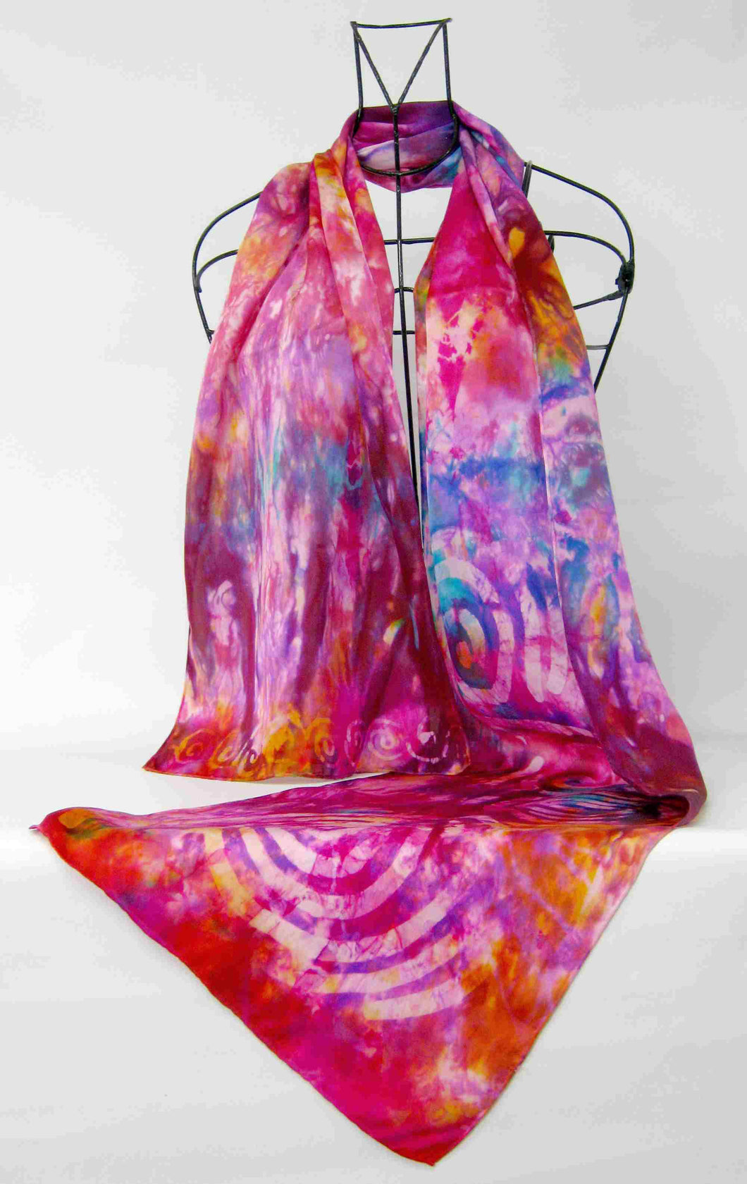 Silk Satin Scarf Pink Celtic Sunset